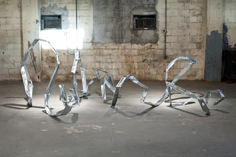 Dylan Lynch Bender Bending Rodriguez 2011 Aluminum 96 x 156 x 57 inches