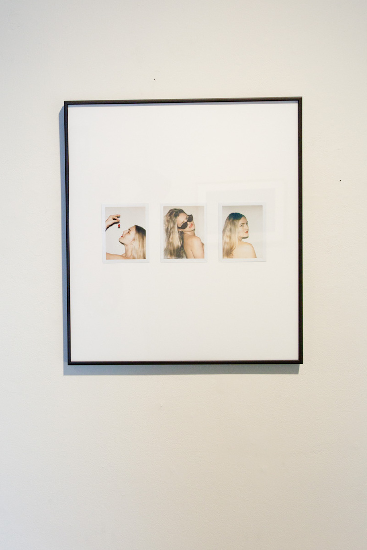 Gia Coppola Triptych of Nathalie 2011 Polaroid collage 16.5 x 19 inches