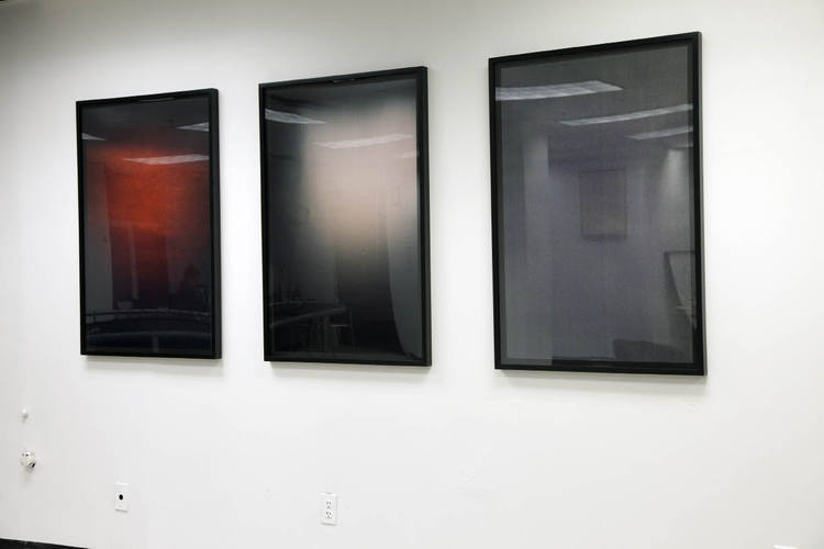 Alex Perweiler Refractions and Subtractions 2010 3 c-prints in artist frame Installation