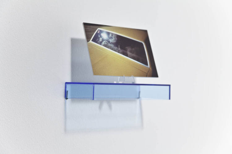 Zachary Susskind Second Place (Detail) 2010 Ink on sintra, plastic and fluorescent plexiglass 4 x 6 inch print on 7 x 3 1/2 x 1 inch pedestal