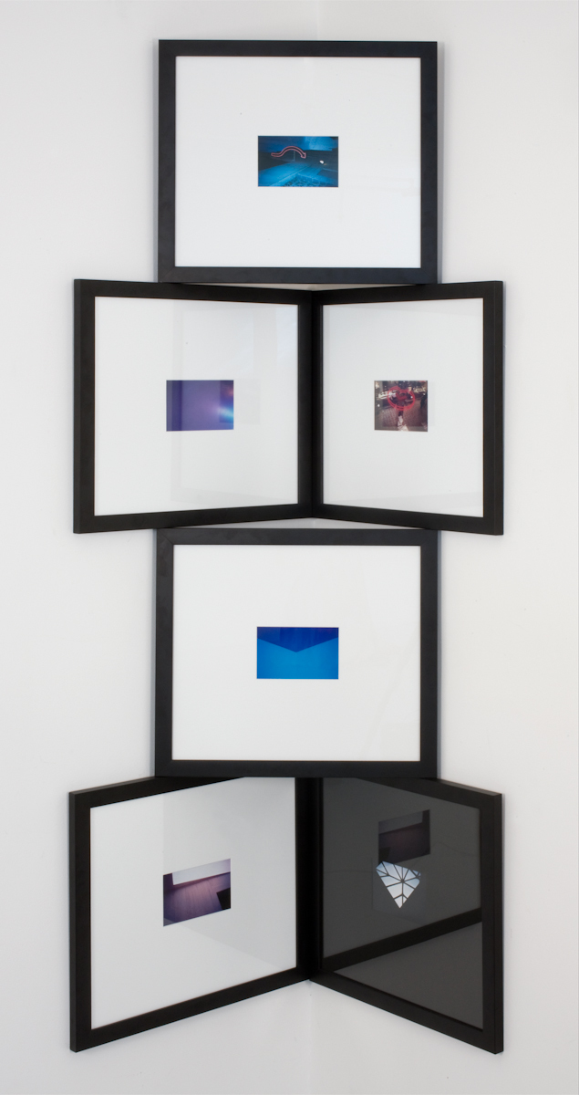 Alex Perweiler  6 Print Shape   2009   6 c-prints and artist frames   Dimensions Variable