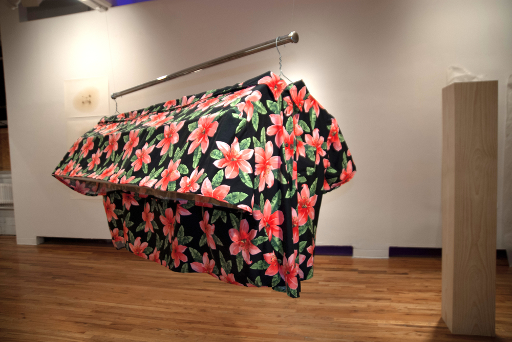 Three Day Weekend  2012 Cotton fabric, steel, aluminum 75 x 54 x 36 inches