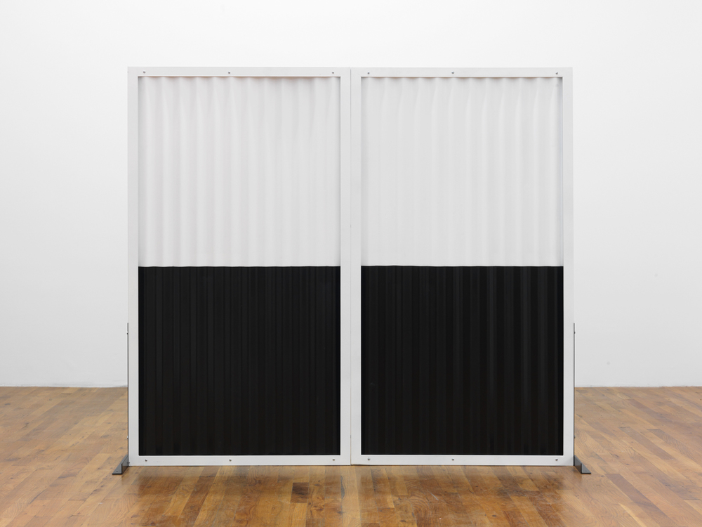 Standing Partition (double) 2013 Steel, Hardware, Poly-acrylic paint 60 x 66 x 16 inches