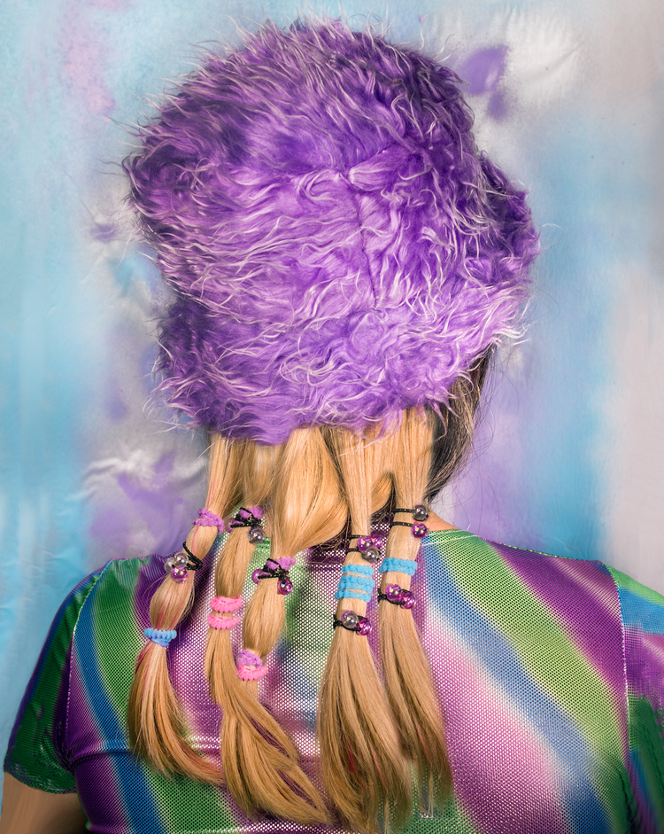 Kelley McNutt   Fuzz Hat   2013   Archival pigment print    20 x 16 inches