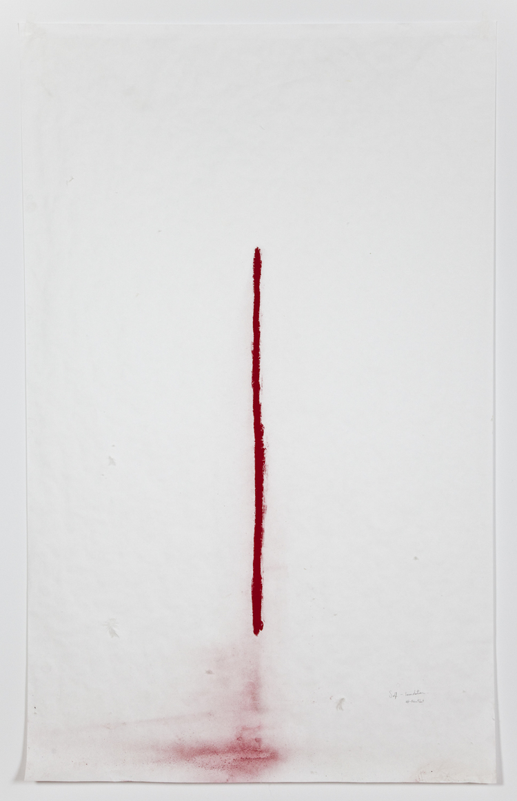 Self - Immolation #freetibet 2012 Chalk on Paper 77 x 48 inches