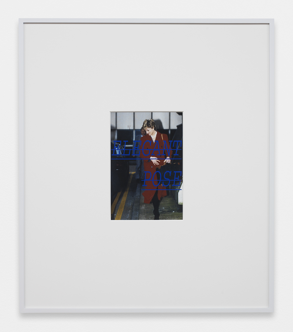 LOUIS EISNER  Elegant Pose  , 2013   Inkjet print in unique artist frame   29.5 x 25.5 inches