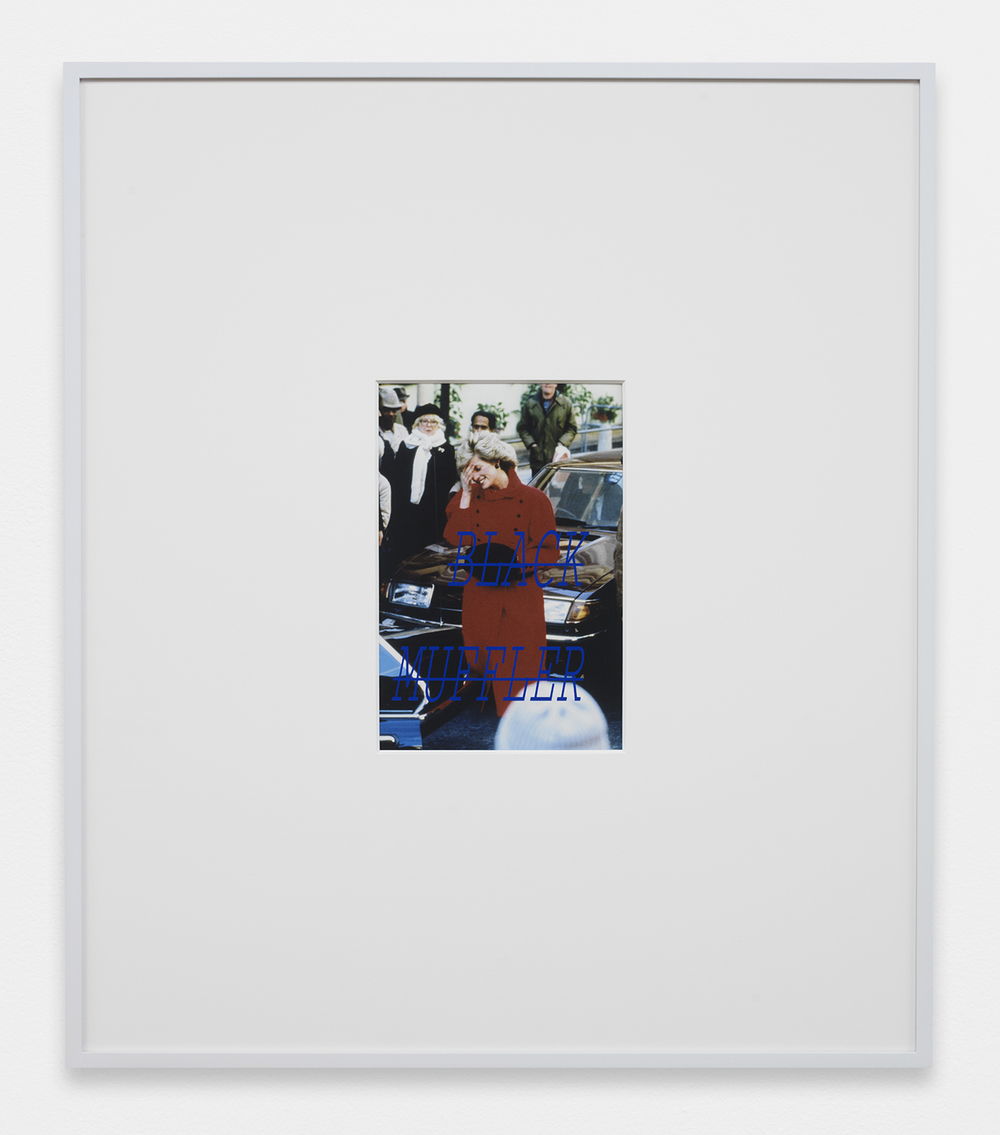 LOUIS EISNER Black Muffler, 2013 Inkjet print in unique artist frame 29.5 x 25.5 inches