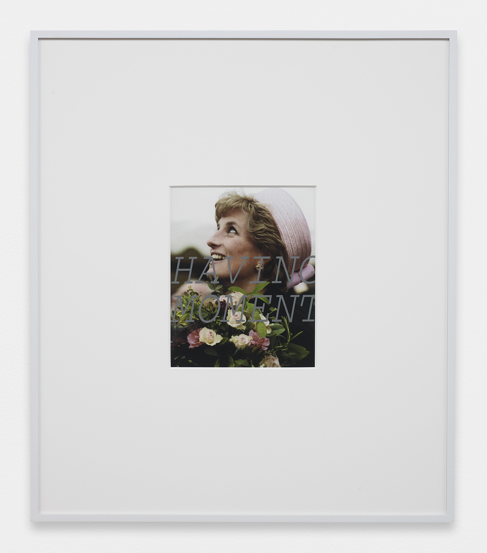 LOUIS EISNER  Having Moment , 2013 Inkjet print in unique artist frame 29.5 x 25.5 inches