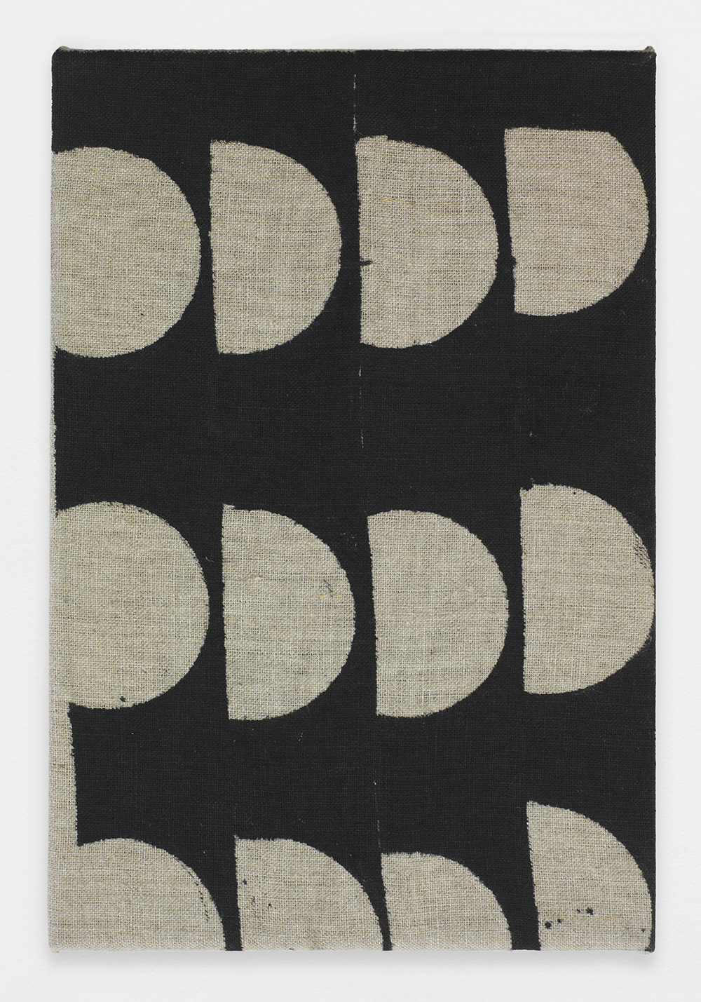 AUGUSTUS THOMPSON  Untitled , 2013 Ink on linen 12 x 8 inches