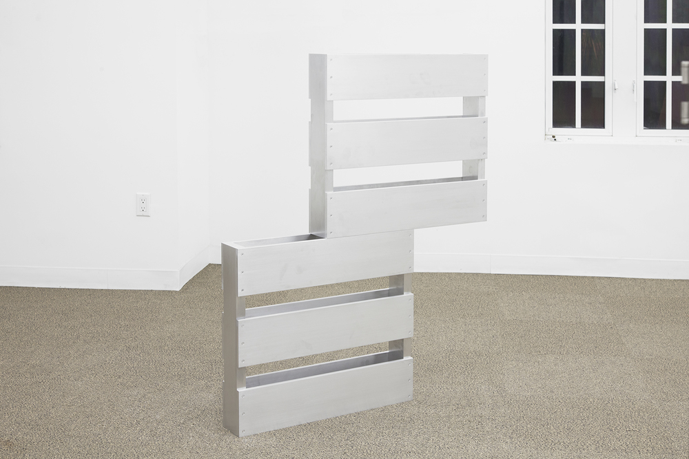 DYLAN LYNCH  Cupcakes  , 2013   Aluminum   38 x 4.5 x 48 inches