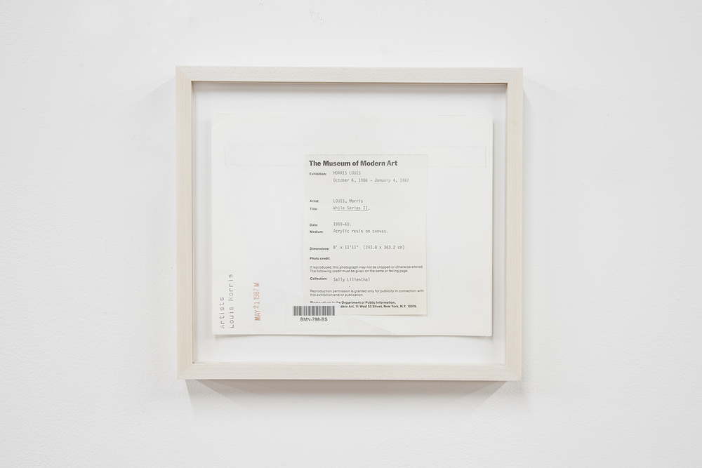 ALEX PERWEILER  Morris MOMA , 2013 Flipped archive photograph 8.5 x 11 inches