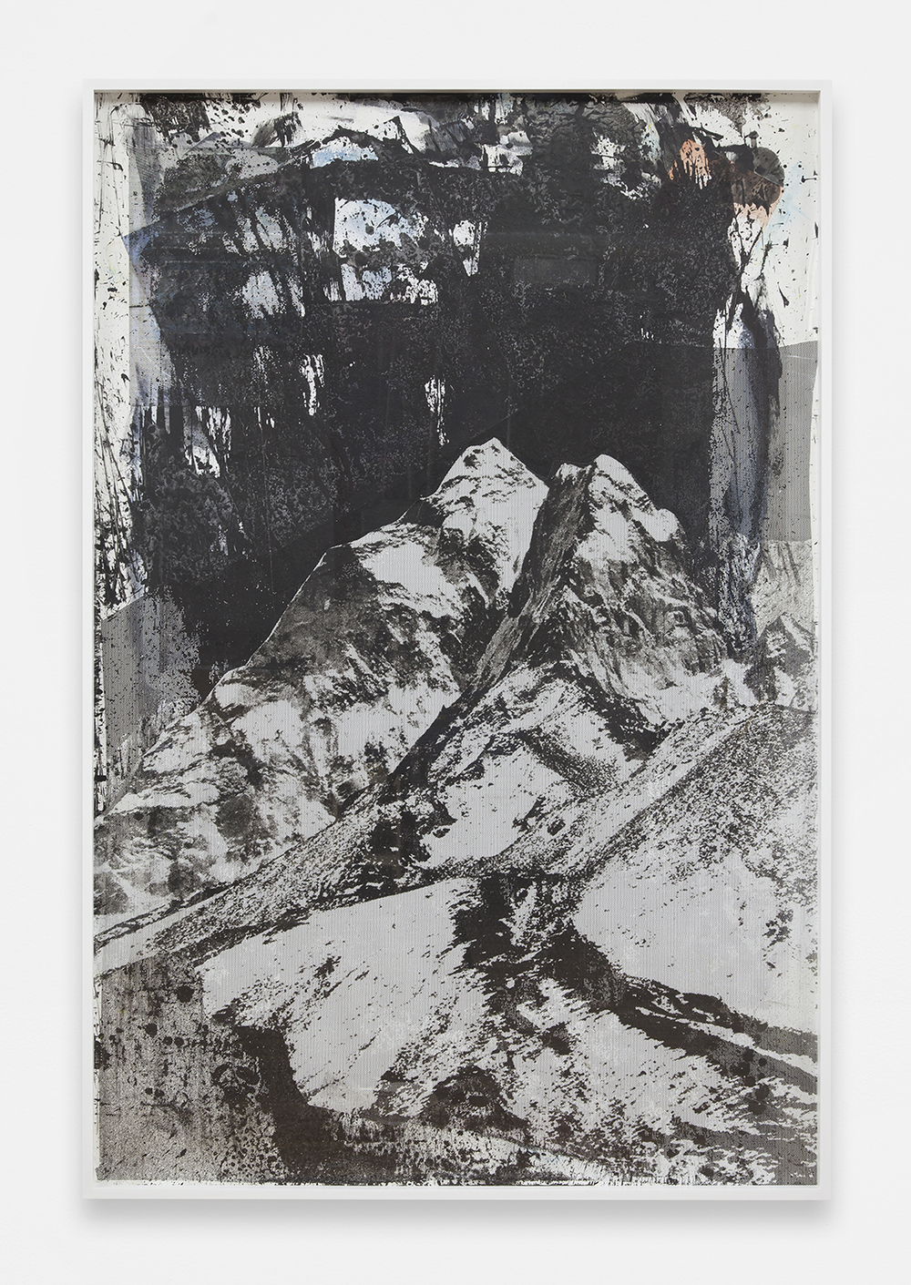 PETER SUTHERLAND  The Mountain-Chrome  , 2013   Mixed media on coated masonite   72 x 48 inches