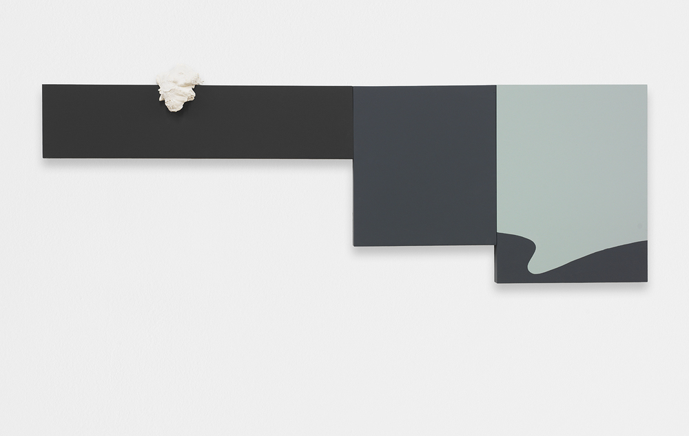 ALEX ITO  Ocean Waves (121 Days of Sodom)  , 2013   Paint, plaster on wood panel   19.5 x 59 inches