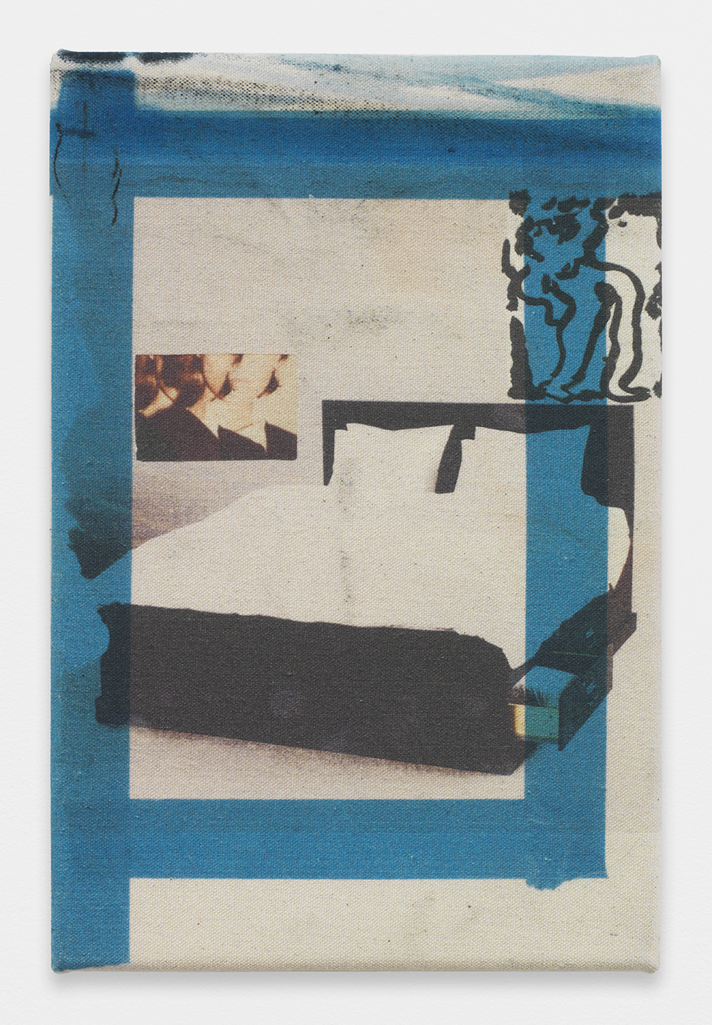 AUGUSTUS THOMPSON  Bedroom State  , 2013   Inkjet on raw canvas   12 x 8 inches