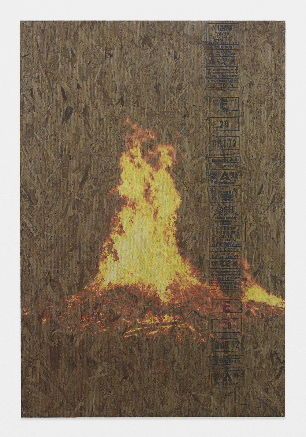 PETER SUTHERLAND  Austrian Solstice  , 2013   Inkjet on perforated vinyl applied to particle board   72 x 48 inches