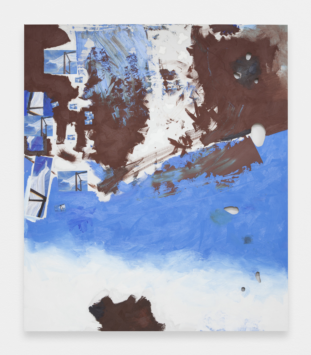 BRENDAN LYNCH    Klein Miller Ryman  2013 Oil and photographs on wood panel 72 X 64 INCHES