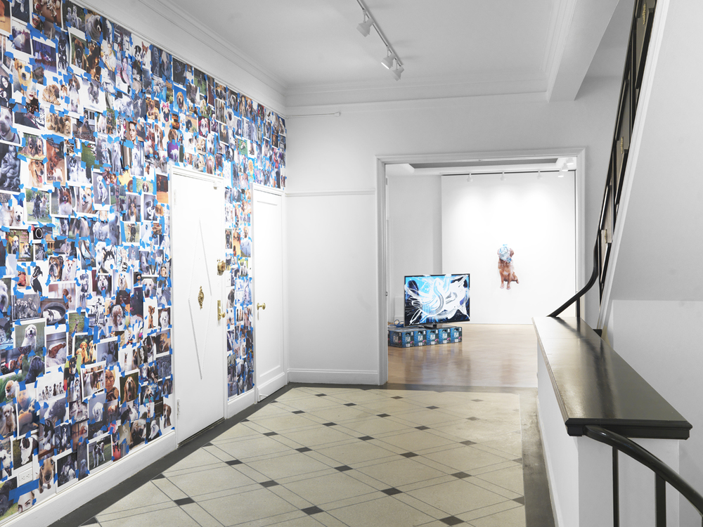 1, 4, 6, 7, 9  2014 Inkjet prints, magazine cut outs, and painter's tape  Dimensions variable