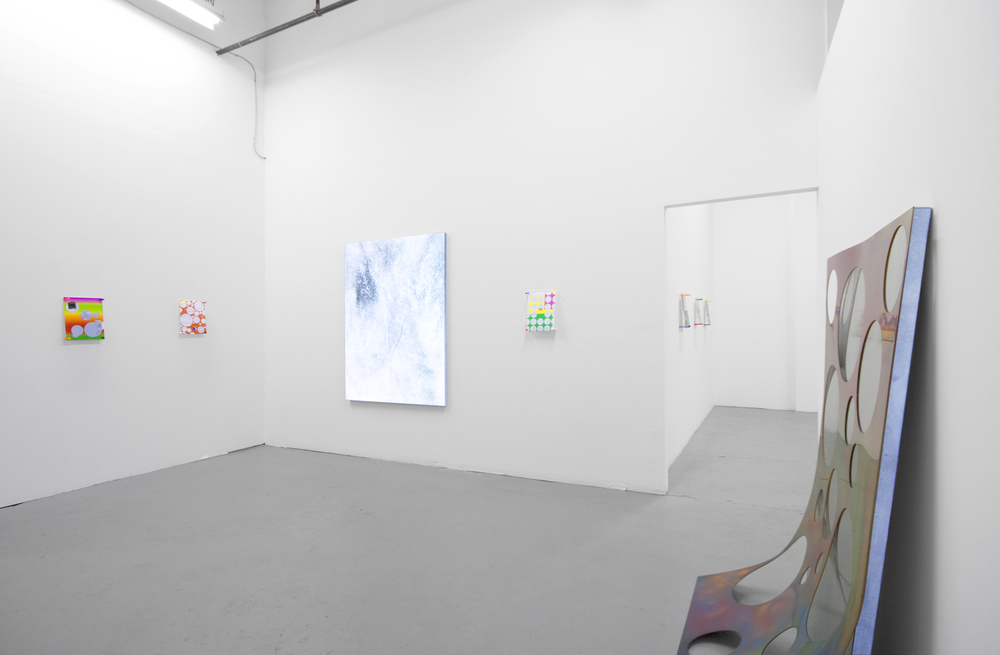 Installation view with Parker Ito  At Tomorrow Gallery Toronto, CN