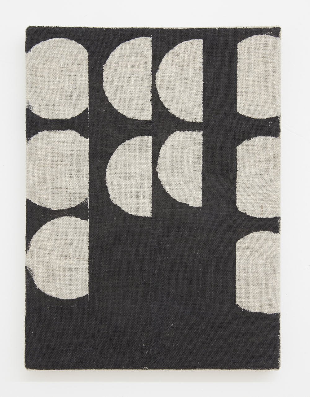 AUGUSTUS THOMPSON  Untitled (Bean Can 3) , 2013 Ink on linen  12 x 8 inches