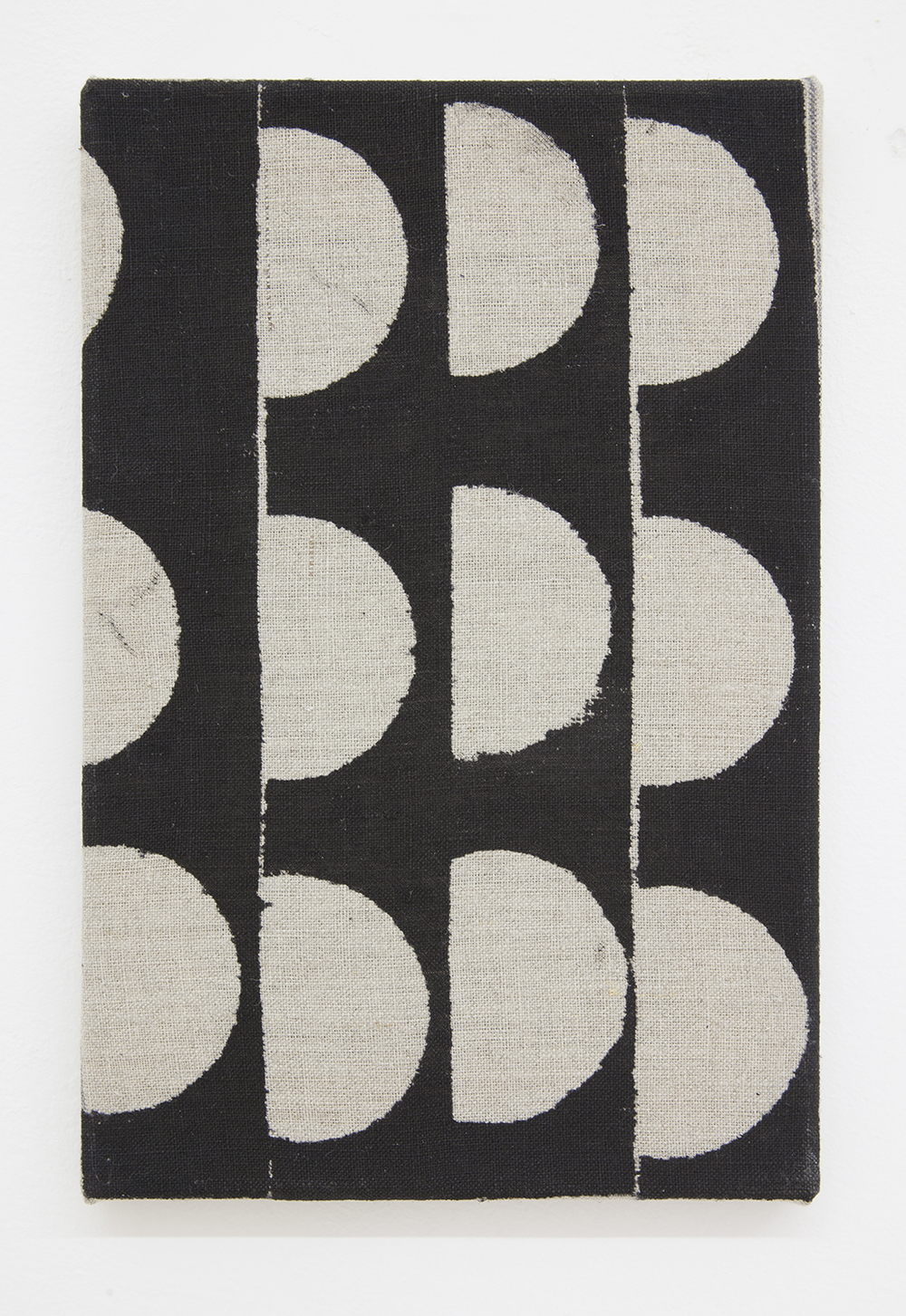 AUGUSTUS THOMPSON Untitled (Bean Can 4), 2013 Ink on linen 12 x 8 inches