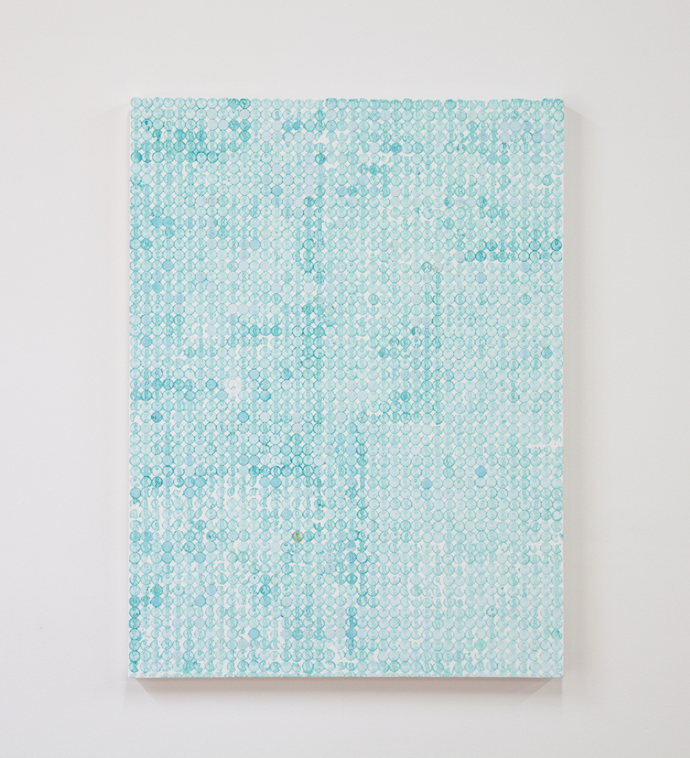 NICK DARMSTAEDTER Half Off, 2014 Oxidized copper on canvas 40 x 30 inches