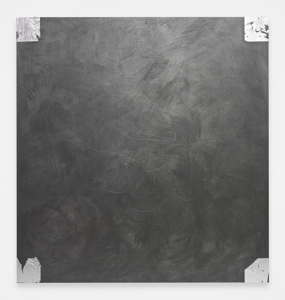 BRENDAN LYNCH Corner, 2014 Graphite and aluminum leaf on wood panel 60 x 57 inches