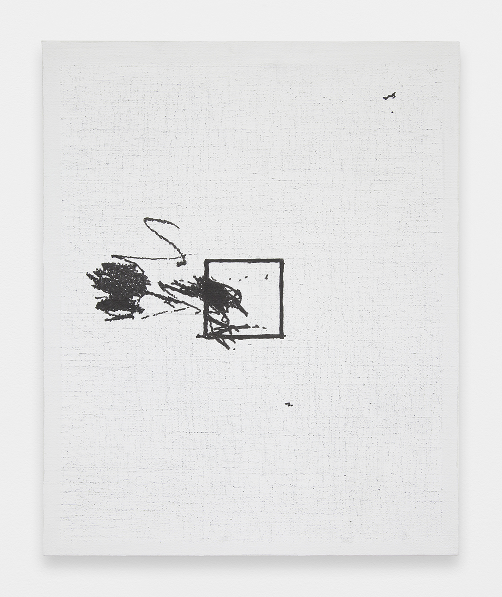 LOUIS EISNER Box 9, 2014 Oil, graphite and Marsh ink on linen 21.5 x 17.5 inches