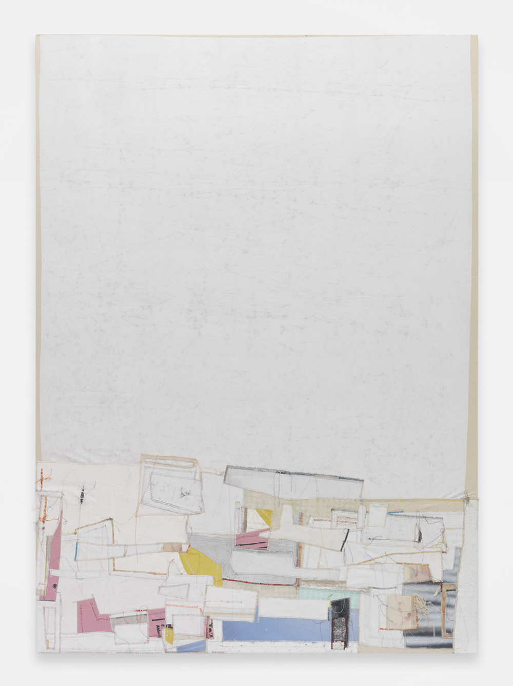 JACK GREER Alice, 2014 Canvas, thread and latex paint 80 x 64 inches