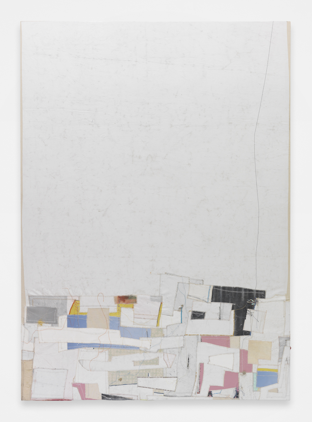 JACK GREER Anna, 2014 Canvas, thread and latex paint  80 x 64 inches
