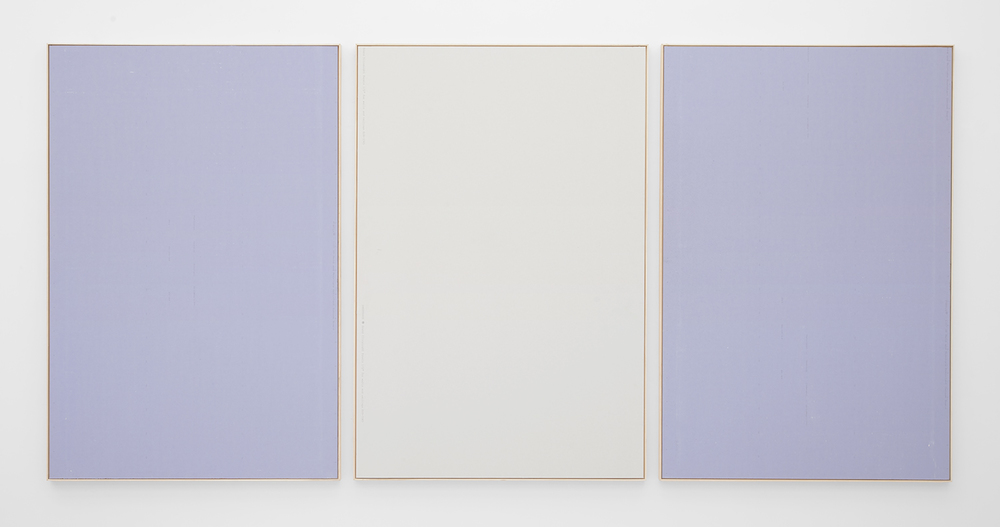 ISAAC BREST Get that Paper, 2014 Various brands of drywall in artist frame 72 x 151 inches