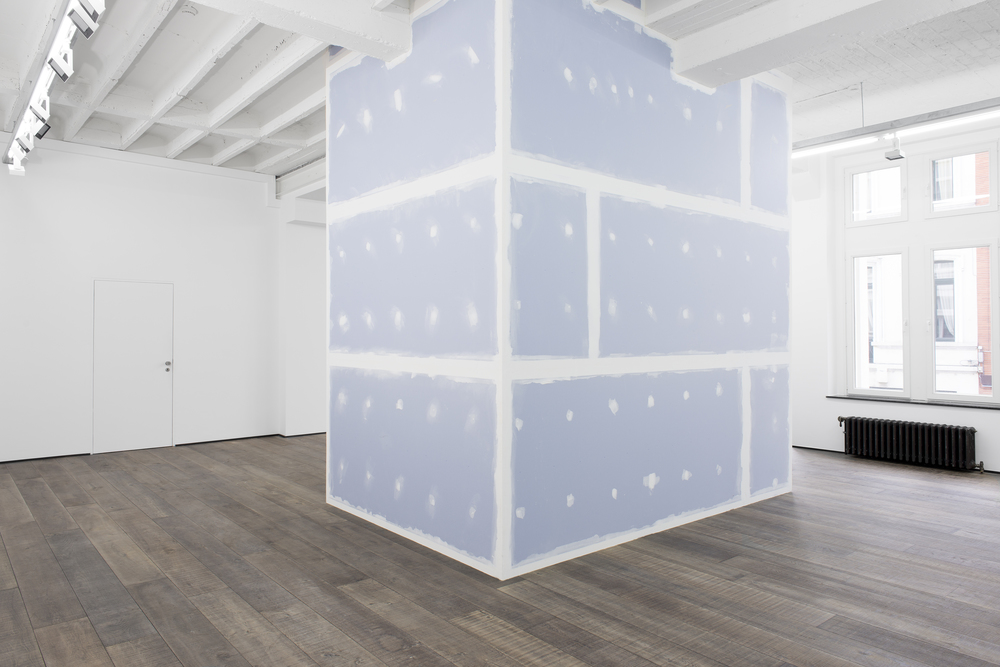 Isaac Brest  The Rise of Fake Buddhism, 2014 Gyproc, joint compound, mesh tape, paint and wood 134 x 90.5 x 145.625 inches