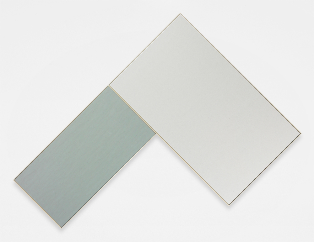 Isaac Brest  Bent Up 1 , 2014 Various brands on drywall in artist frame  85 1/4 x 60 3/4 inches