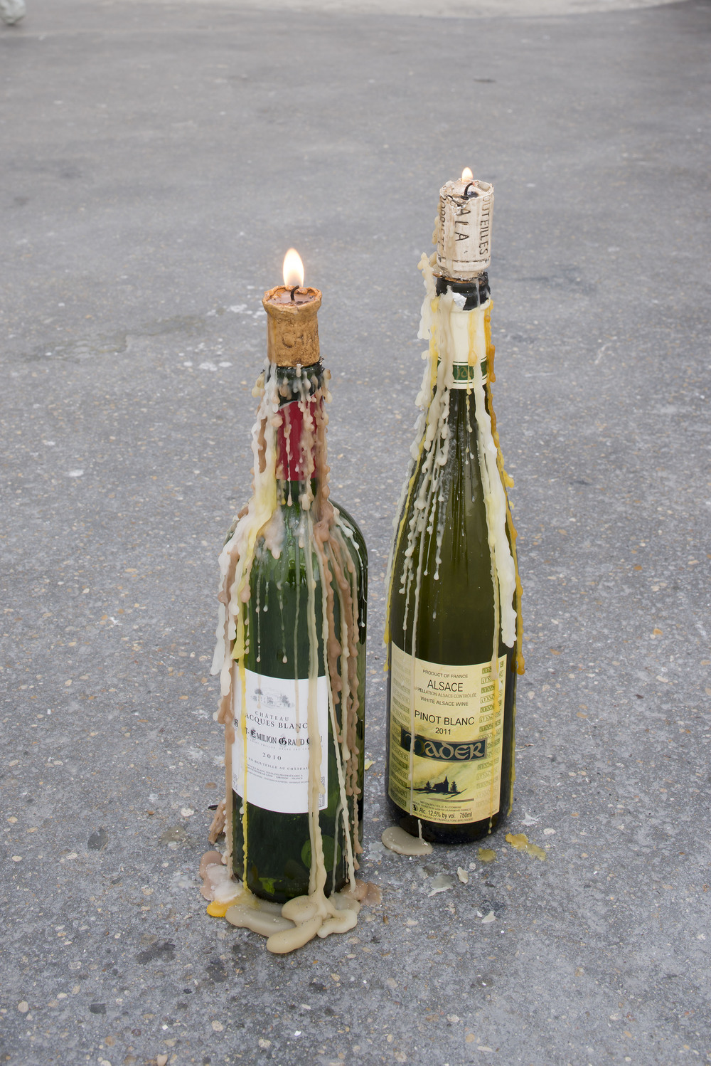 Just The Two of Us 2014 Wine cork candles, wine bottles Dimensions vary with installation