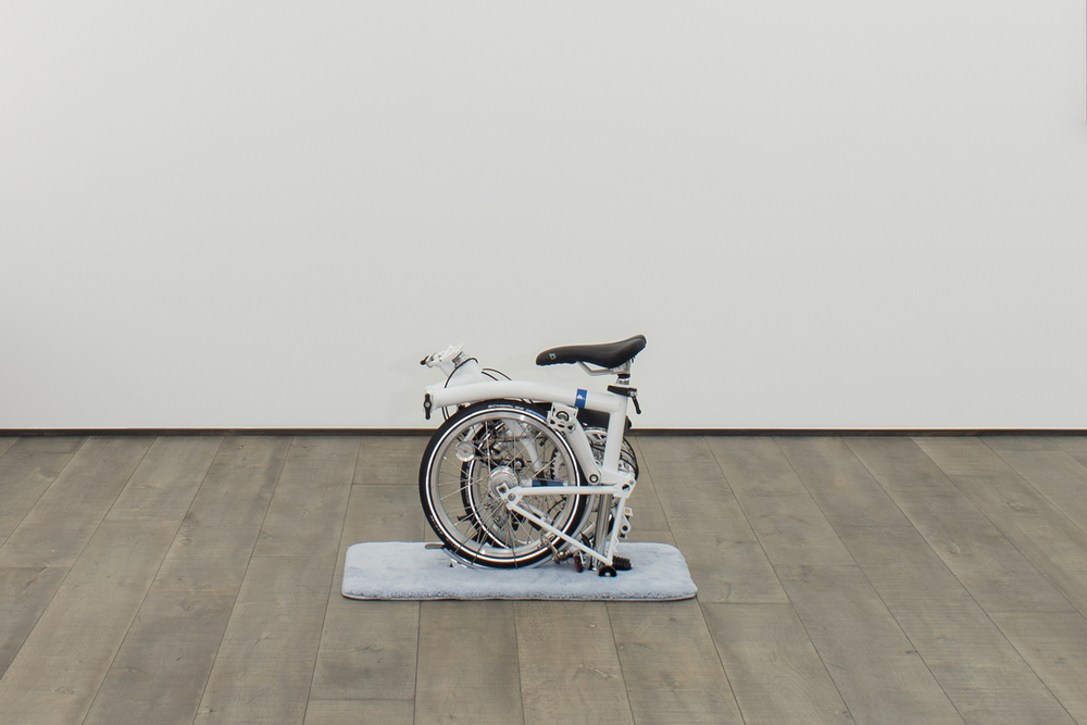Contemplation of Movement at Rest (Yoga Bike)  2014  Brompton fold bike  23 x 23 inches