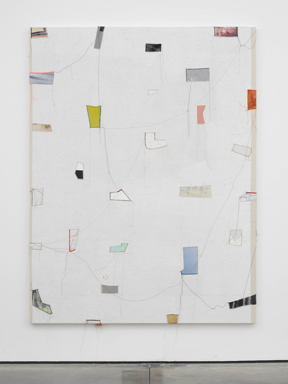 Finding Order: 10 2014 Canvas, thread, enamel and latex 84 x 64 inches