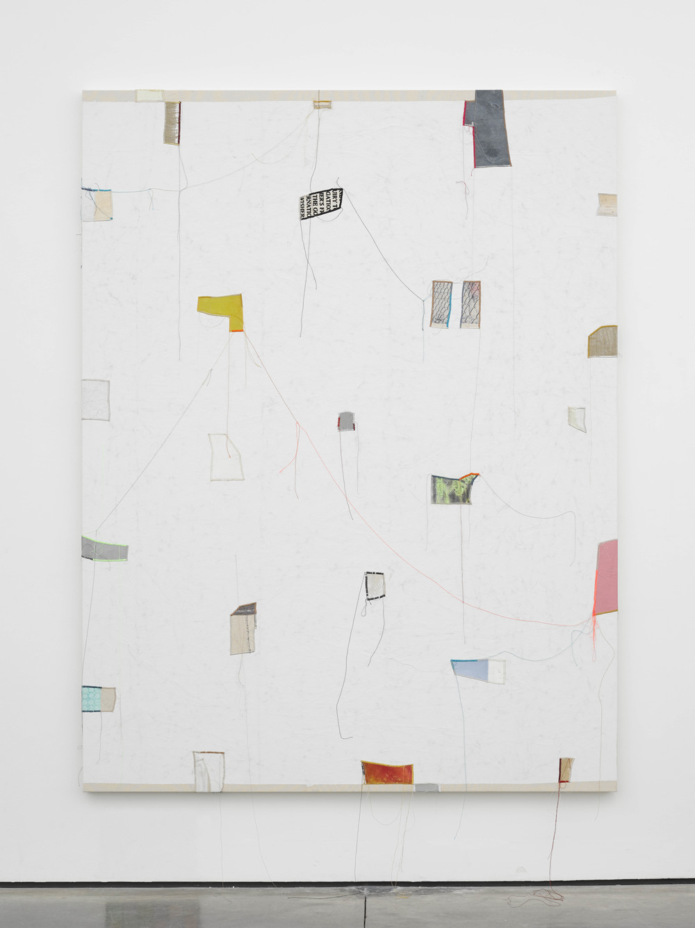 Finding Order: 7 2014 Canvas, thread, enamel and latex 84 x 64 inches