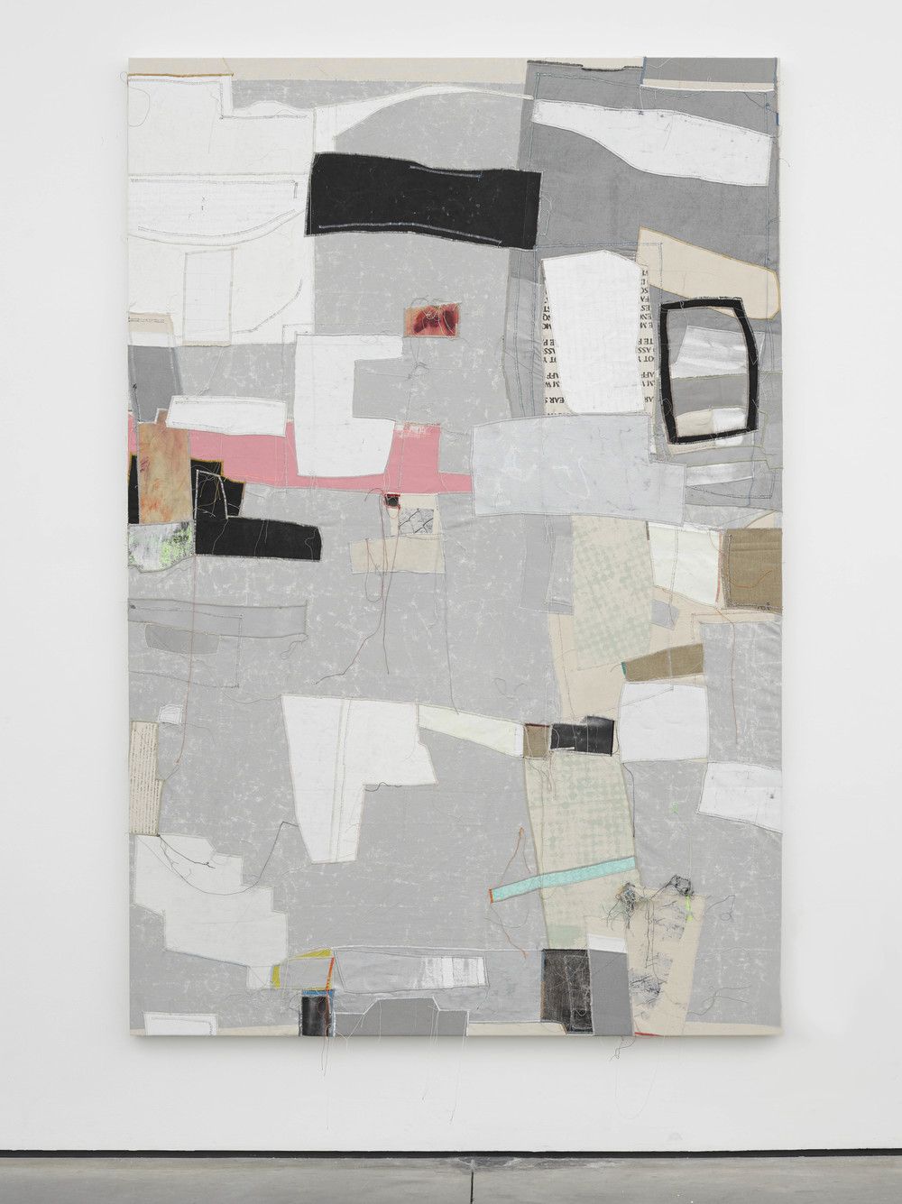 Gabe 2014 Canvas, thread and latex 90 x 60 inches