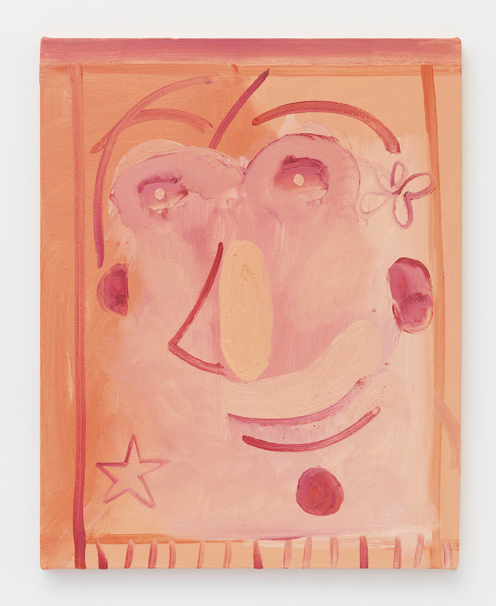 Brian Kokoska  Untitled (Fuzzy Peach) , 2014 Oil on canvas 23 x 18 inches