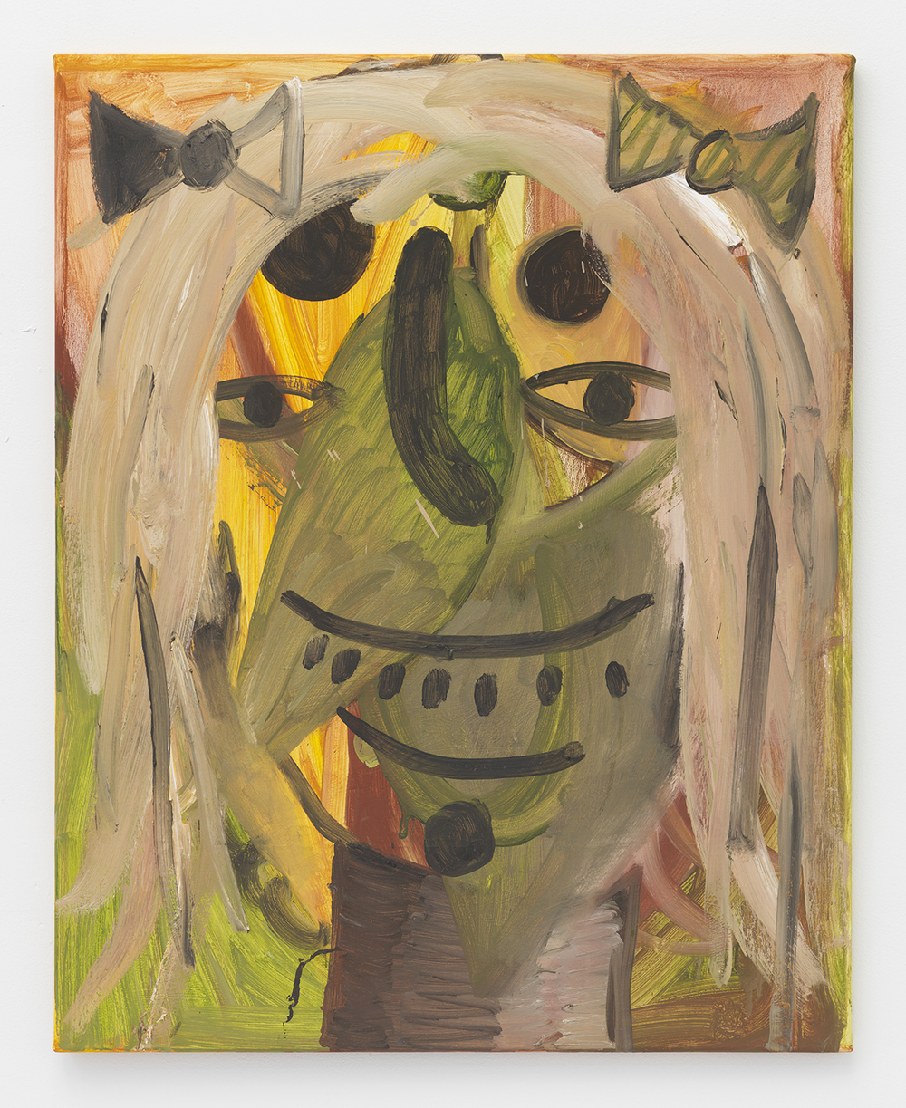 Brian Kokoska  Banjo Tabitha , 2014 Oil acrylic and spray paint on canvas 34 x 27 inches