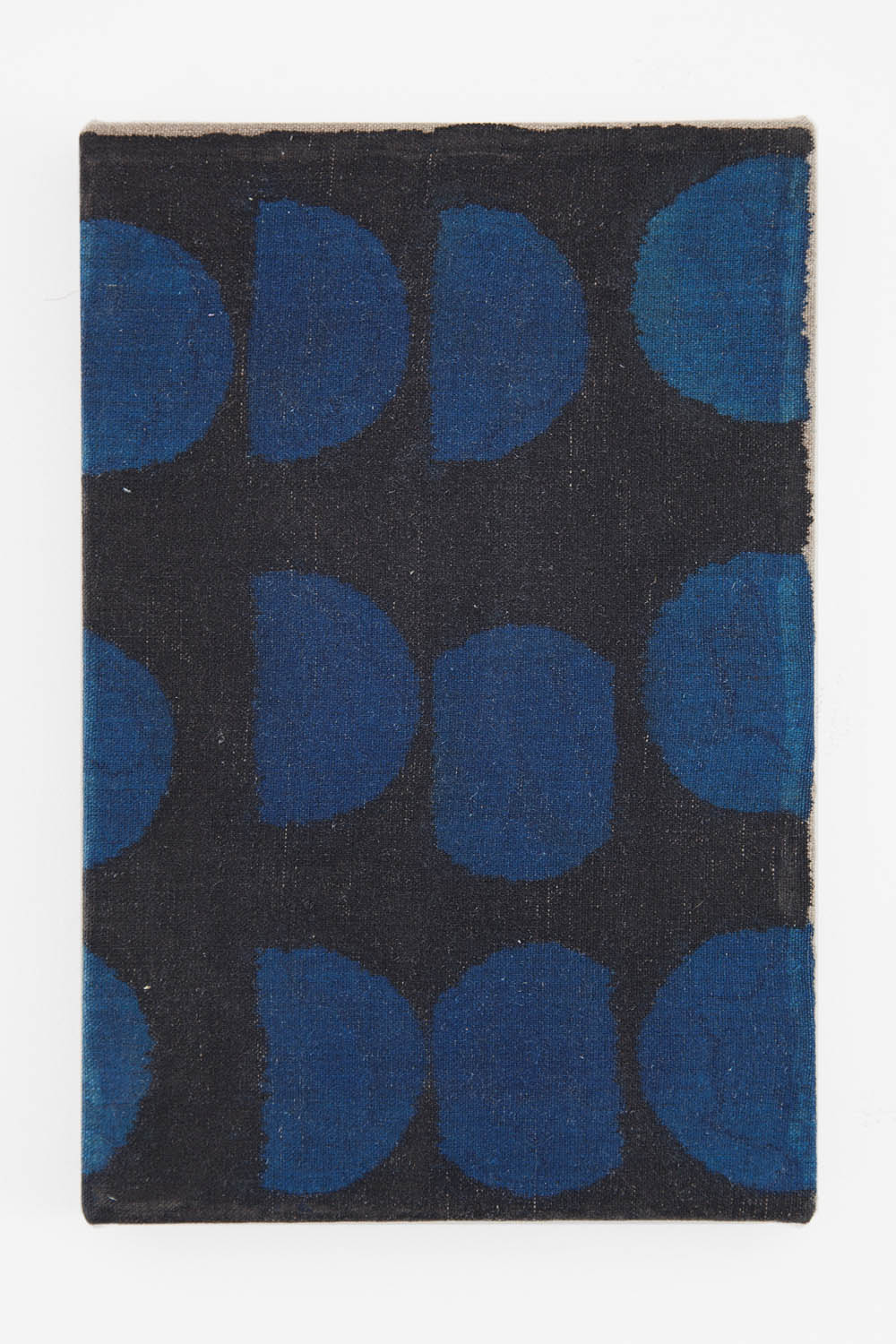 Black and Blue (Bean Can) 2014 Acrylic and India ink on linen 12 x 8 inches