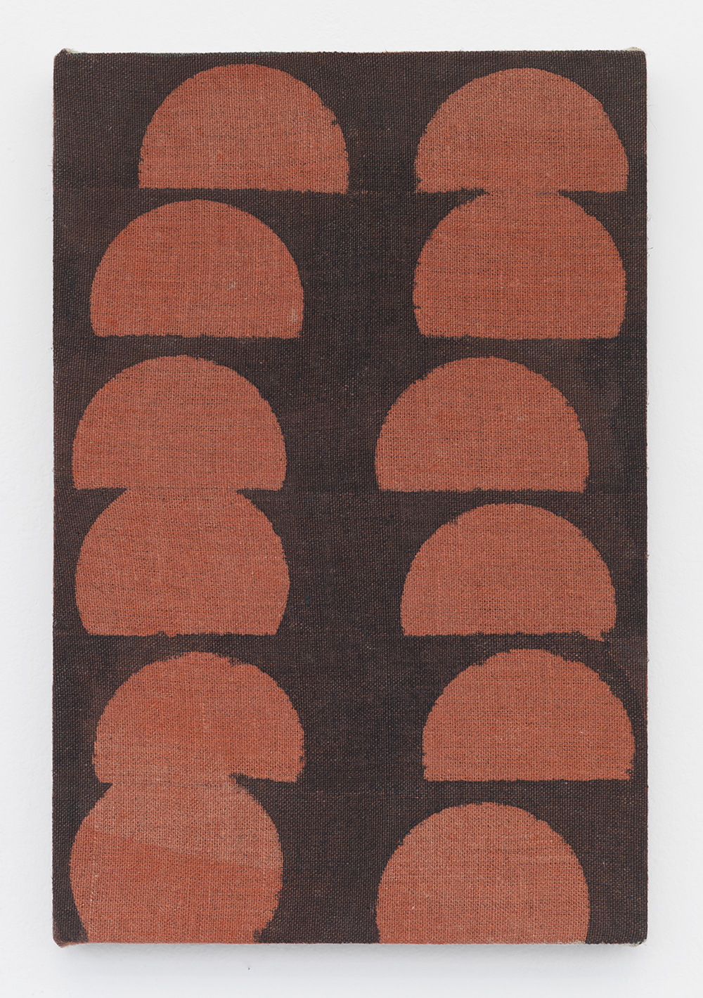 Red Rise (Bean Can) 2014 Acrylic and India ink on linen 12 x 8 inches