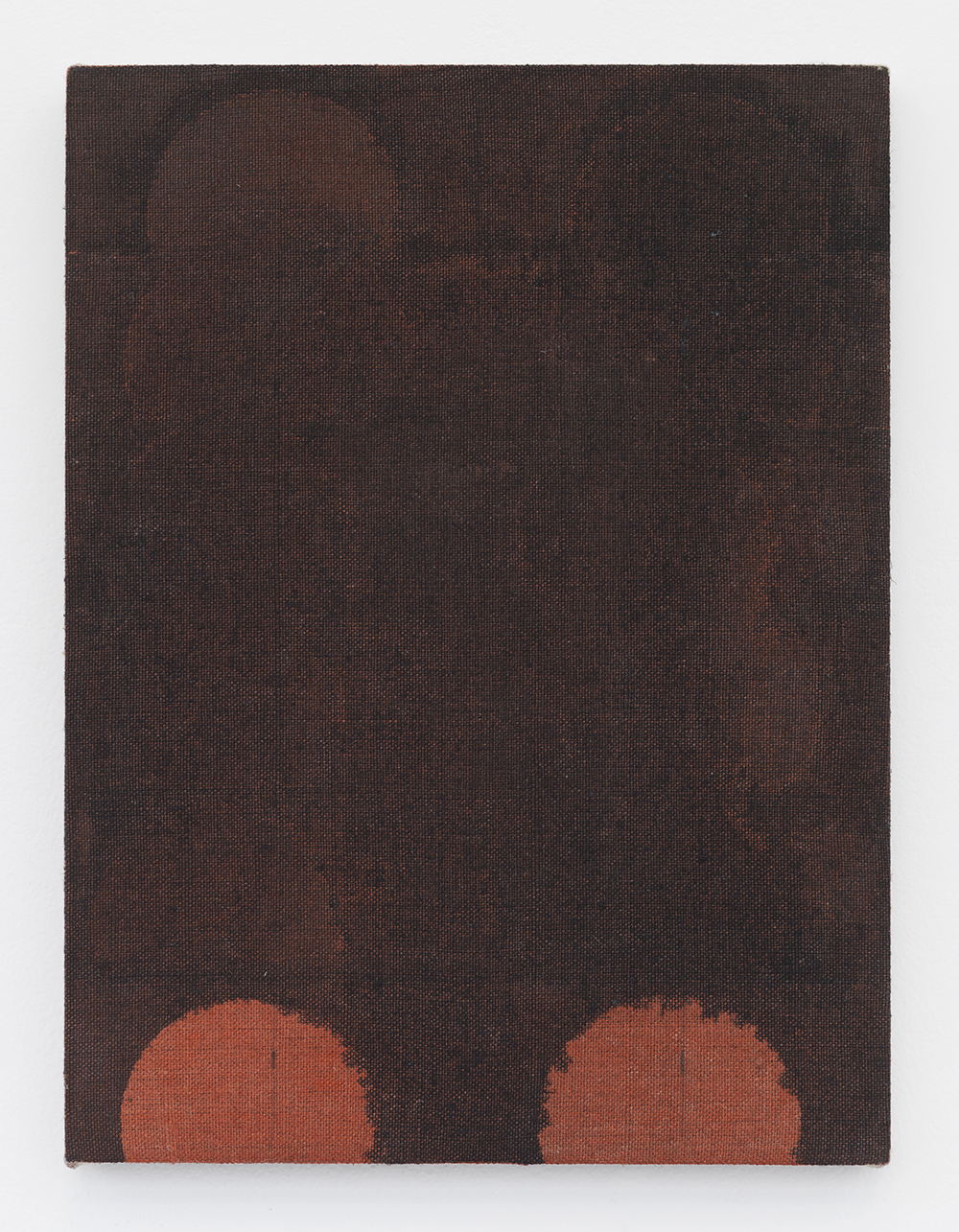 Red Wash (Bean Can) 2014 Acrylic and India ink on linen 12 x 9 inches