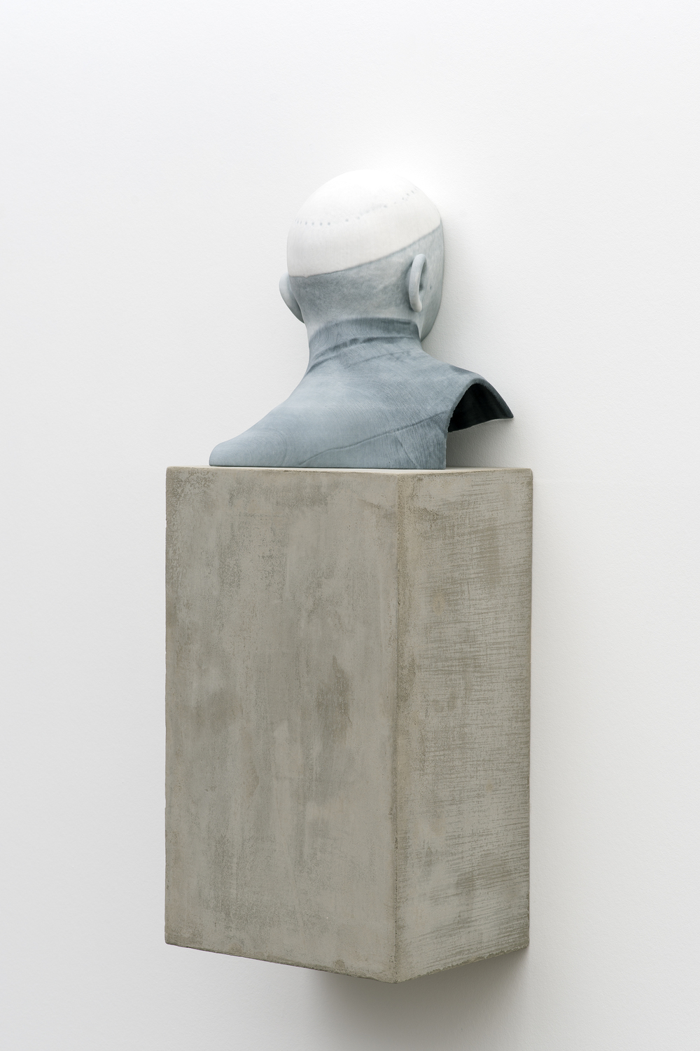 Man of Words (3) 2014 Pigmented plaster ZPrint, concrete  32.25 x 12 x 9 inches