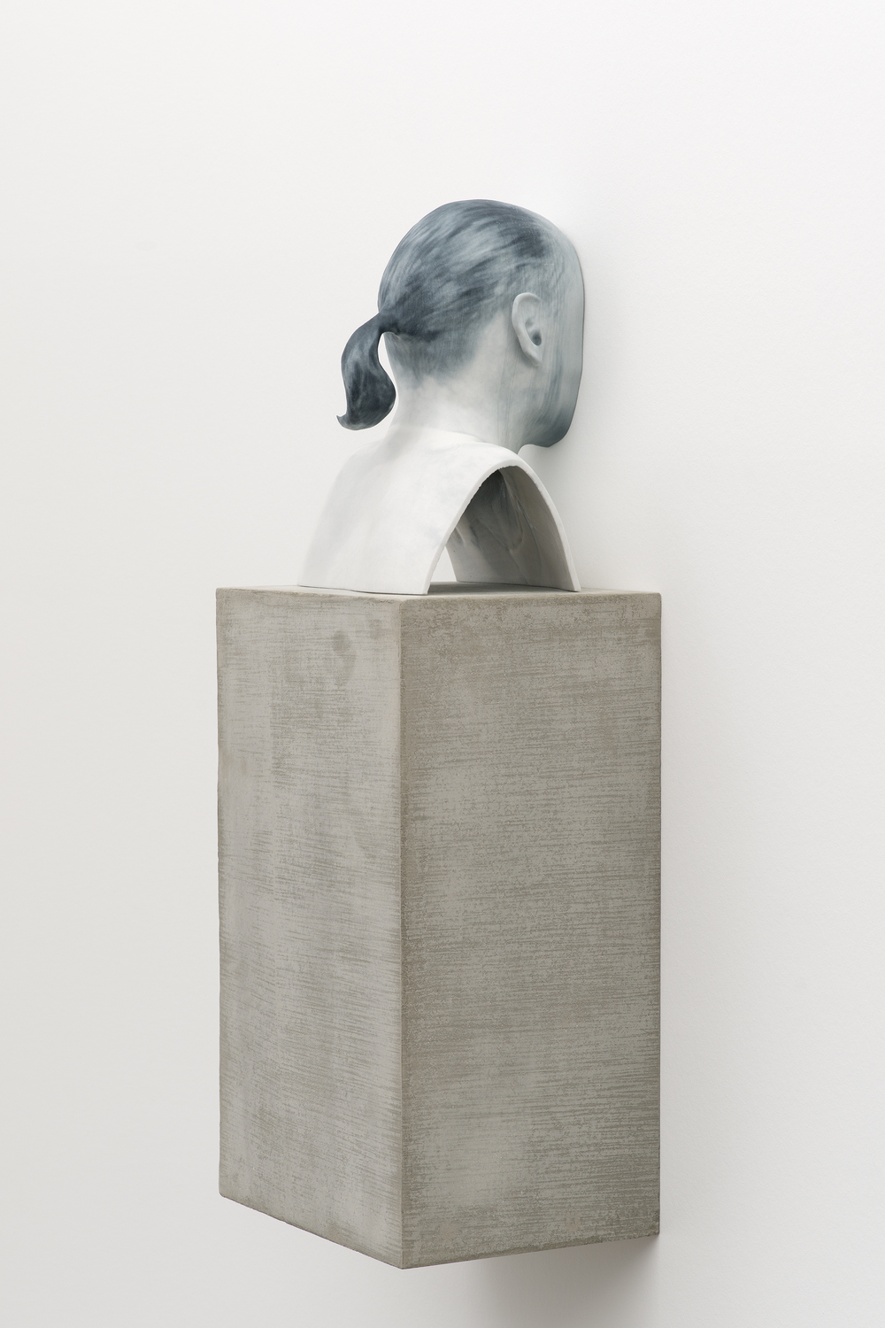 Man of Words (2)   2014   Pigmented plaster ZPrint, concrete    32.25 x 12 x 9 inches