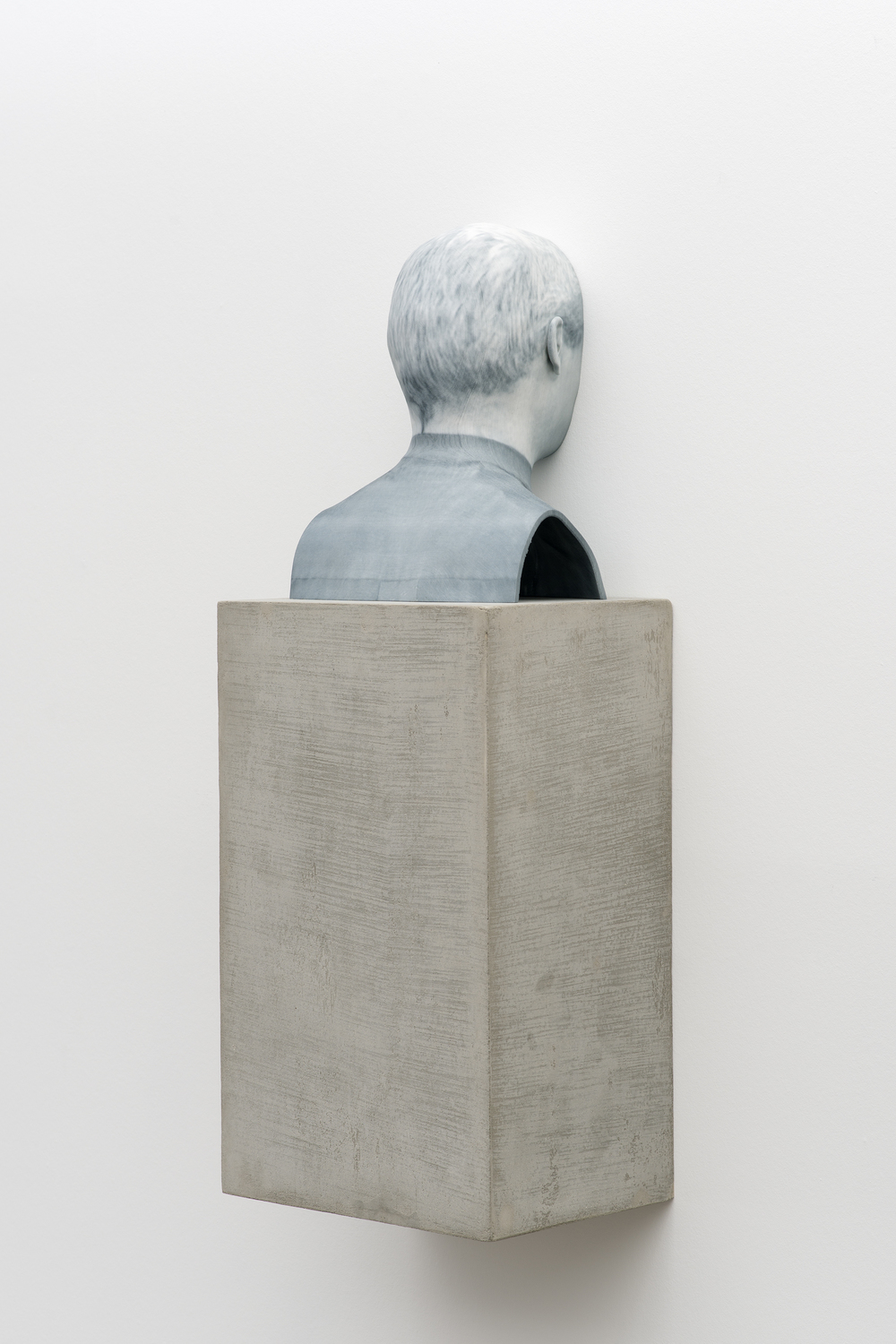 Man of Words (1)   2014   Pigmented plaster ZPrint, concrete    32.25 x 12 x 9 inches