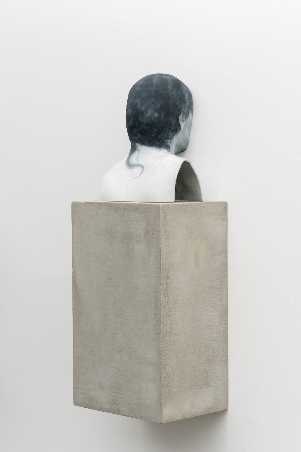 Man of Words (5) 2014 Pigmented plaster ZPrint, concrete  32.25 x 12 x 9 inches