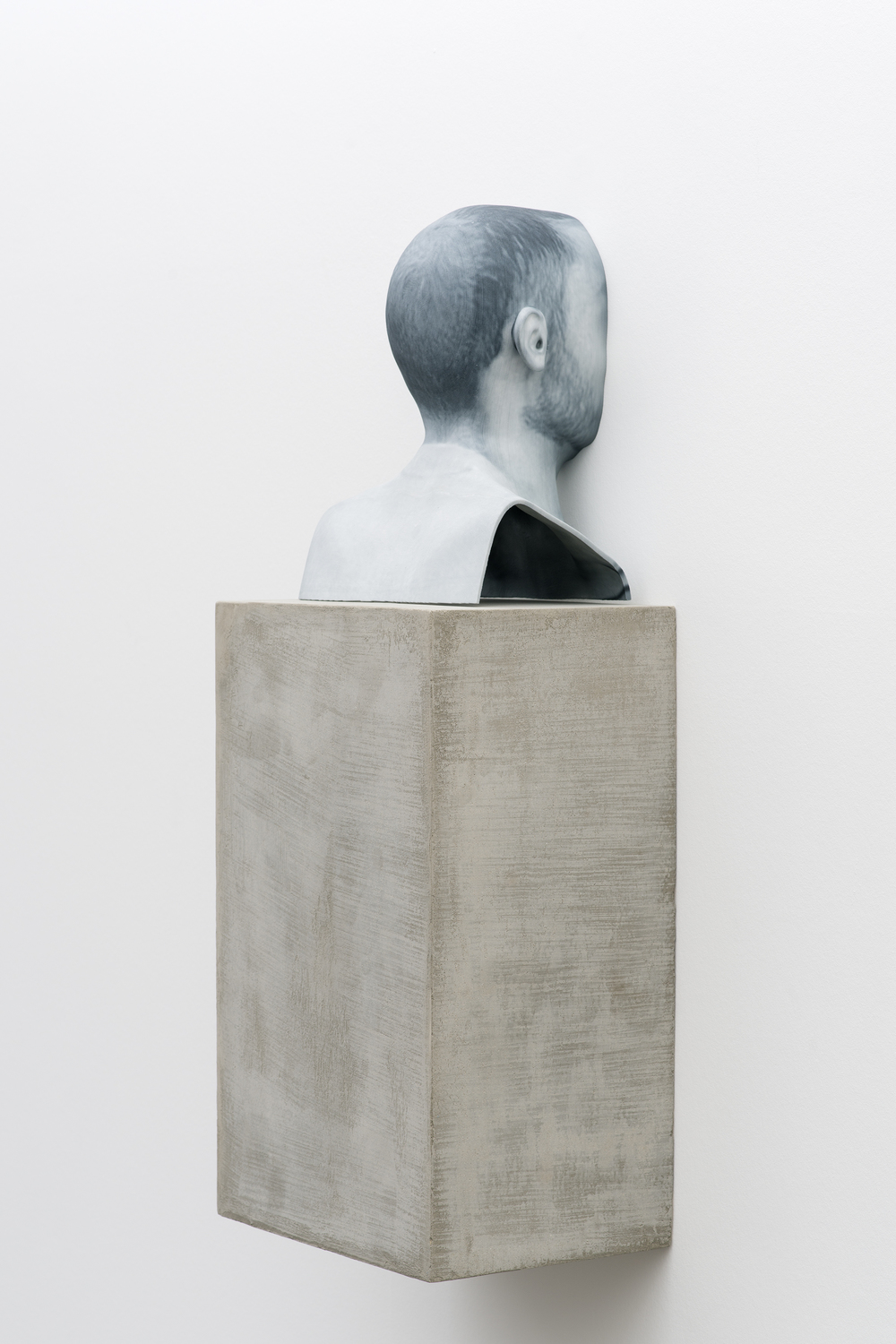 Man of Words (4) 2014 Pigmented plaster ZPrint, concrete  32.25 x 12 x 9 inches