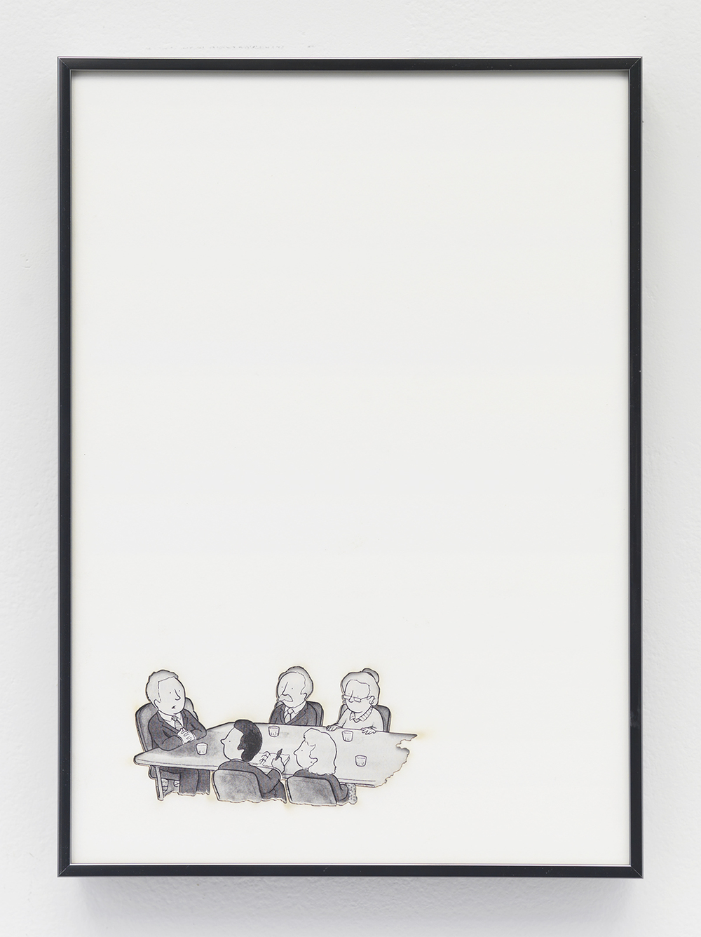 Artifact: Language Barrier (Robert Harris) 2014 Cotton and paper in artist frame 11 x 8 inches