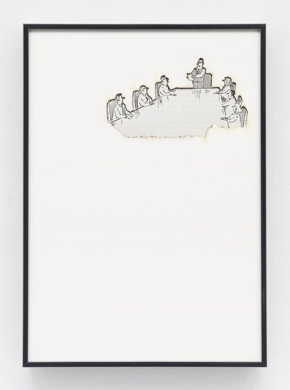Artifact: Language Barrier (A.S. Henning) 2014 Cotton and paper in artist frame 11 x 8 inches