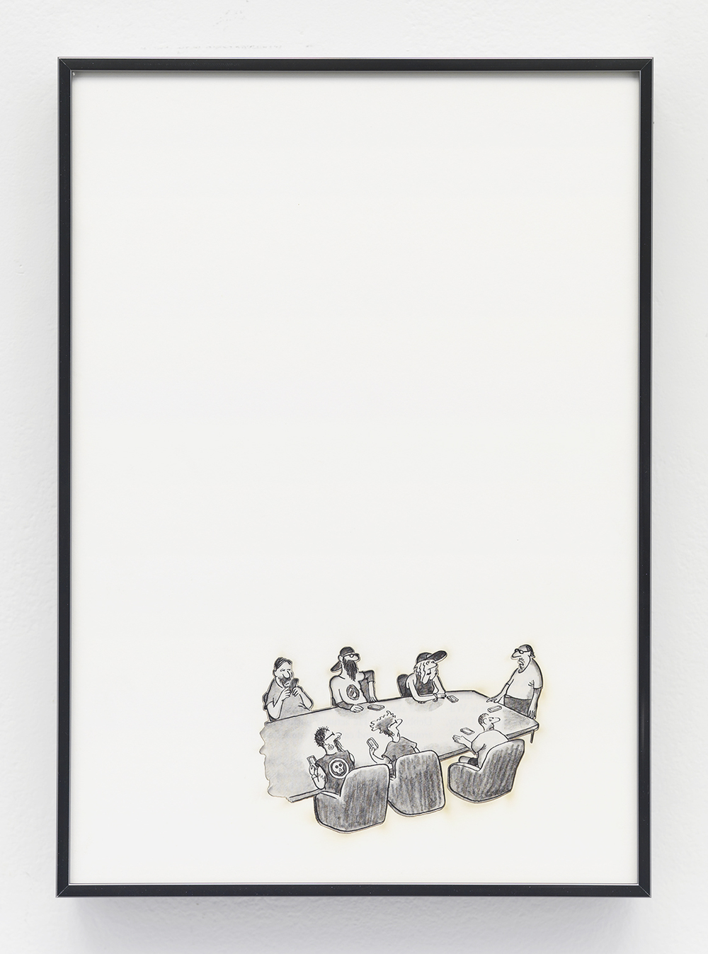 Artifact: Language Barrier (Gerard Ter Borch) 2014 Cotton and paper in artist frame 11 x 8 inches